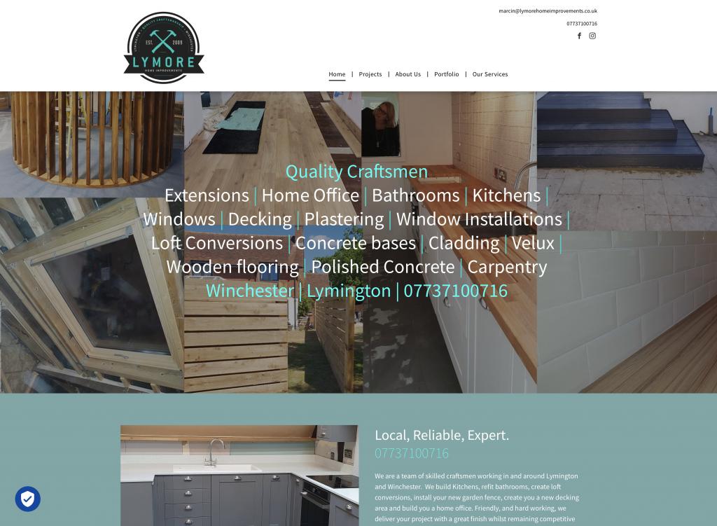 Lymore website design