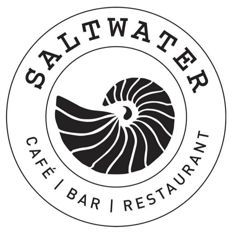 Saltwater logo shop front design